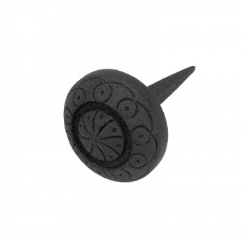 Wrought Iron Nails Clavos Black Decorative Round Iron Nails 3 Inch X 2 Inch15716grid