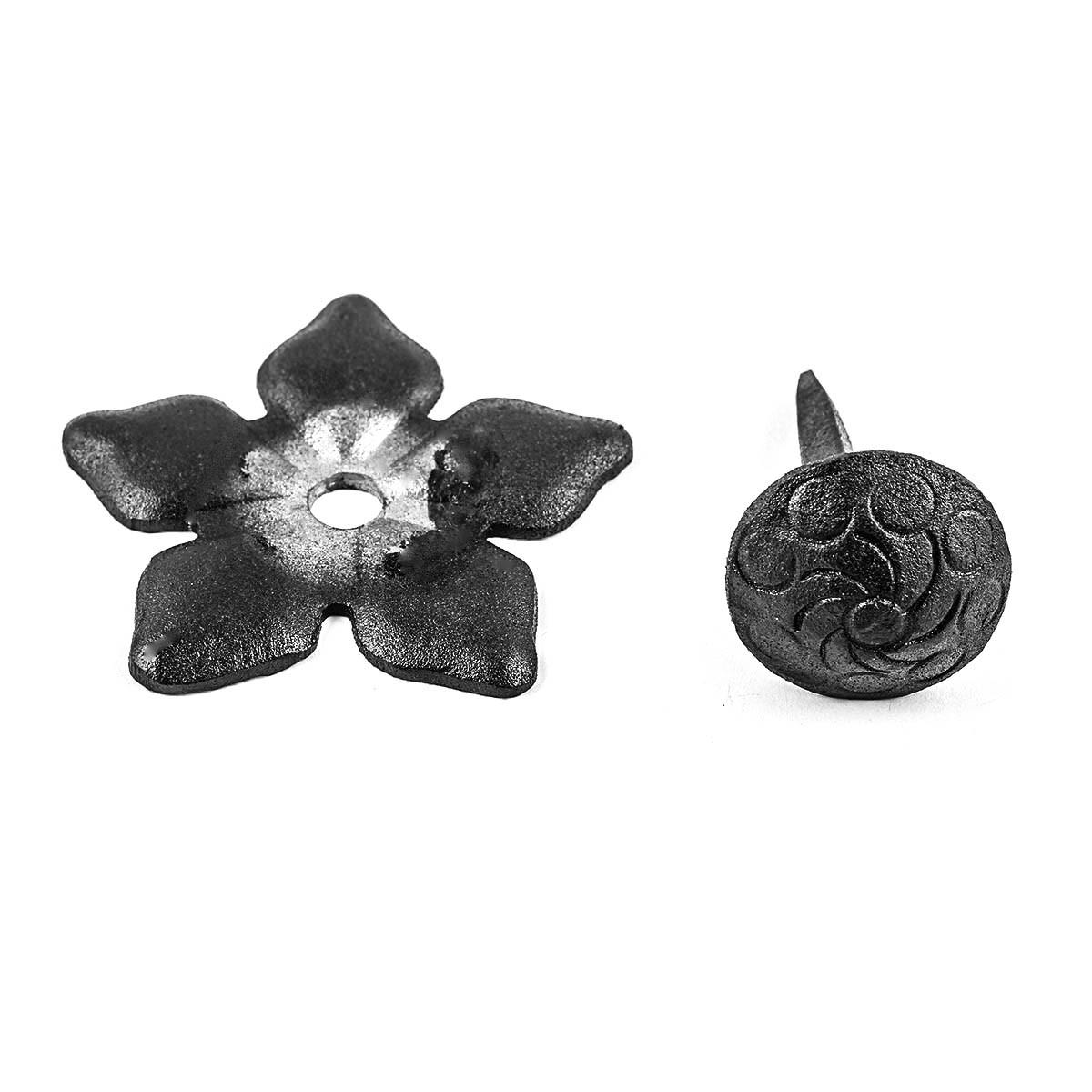 Clavos Decorative Nail Big Head Black Iron 3 H Wrought Iron Nails For Wood Black Iron Nails Clavos Decorative Nails