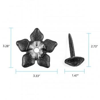 "spec-<PRE>Clavos Decorative Nail Big Head Black Iron 3"" H  </PRE>"