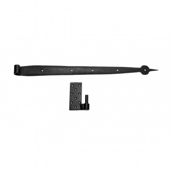 Pintle Bean Door Hinge Black Wrought Iron 24 1/2