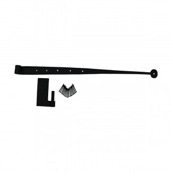 Door Hinges Black Wrought Iron Bean Pintle Hinge 24