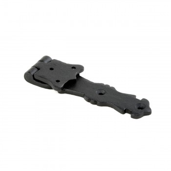 Strap Door or Cabinet Hinge Iron Fleur de Lis  5 12  Bean Strap Hinges Door Hinge Pintles Black Iron Pintle Hinges