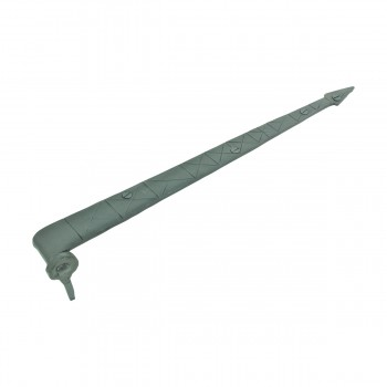 <PRE>Spear Diamond Etch Pintle Door Strap Hinge Iron 15inch </PRE>zoom4