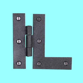 Door Hinges - HL Flush Hinge Wrought Iron 3 1/2 in H Left Hinge by the Renovator's Supply
