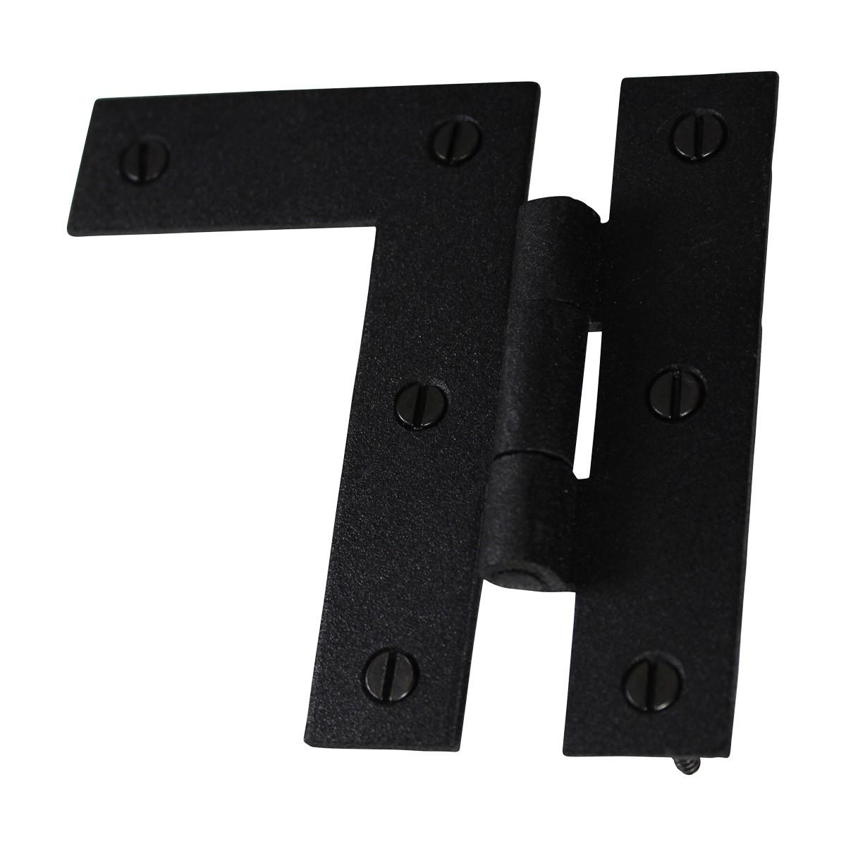 HL Flush Cabinet Hinge Black Wrought Iron Left 3.5H Wrought Iron Cabinet Hinges H Cabinet Hinges Black Door Hinges