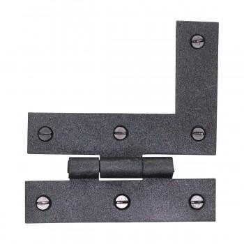 <PRE>HL Flush Cabinet Hinge Black Wrought Iron Left 3.5inchH </PRE>zoom5