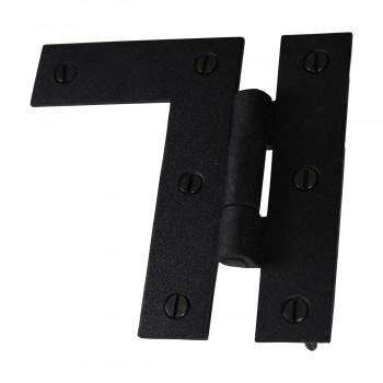 <PRE>HL Flush Cabinet Hinge Black Wrought Iron Left 3.5inchH </PRE>zoom6