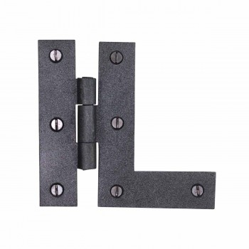 HL Flush Cabinet Hinge Black Wrought Iron Left 3.5
