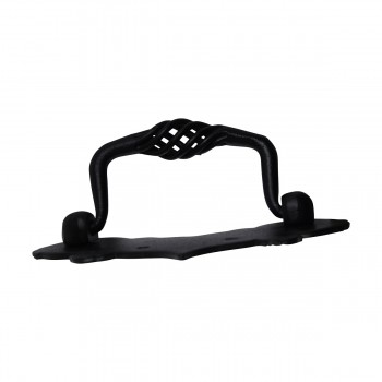 <PRE> Birdcage Drawer Pull Black Wrought Iron 3 1/2'' </PRE>zoom7