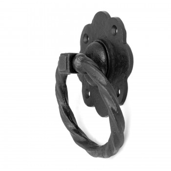 Ring Pull Cabinet or Drawer or Door Wrought Iron Black 5 Wrought Iron Drawer Pulls Cabinet Door Ring Pulls Black Drawer Pulls