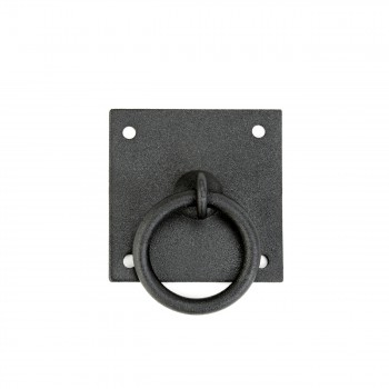 Cabinet Ring Pull Mission Black Wrought Iron 1 3/4