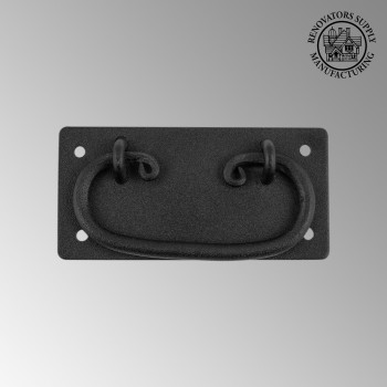 <PRE>Cabinet Drawer Door Pull Black Wrought Iron Mission 4inch  </PRE>zoom2