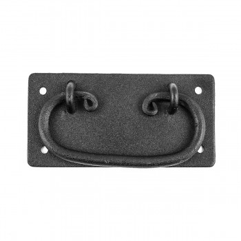 <PRE>Cabinet Drawer Door Pull Black Wrought Iron Mission 4inch  </PRE>zoom3