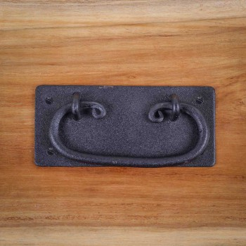 <PRE>Cabinet Drawer Door Pull Black Wrought Iron Mission 4inch  </PRE>zoom7