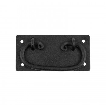 <PRE>Cabinet Drawer Door Pull Black Wrought Iron Mission 4inch  </PRE>zoom1