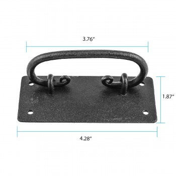 spec-<PRE>Cabinet Drawer Door Pull Black Wrought Iron Mission 4&quot;  </PRE>