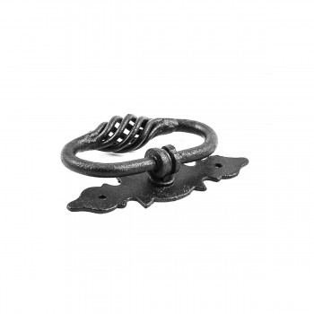 <PRE>Ring Cabinet Drawer Door Pull Black Wrought Iron 4'' W </PRE>zoom4