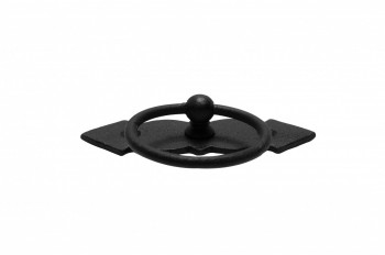 <PRE>Ring Pull Cabinet Door Drawer Wrought Iron Black 3.5'' </PRE>zoom4