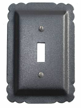 Switchplate Black Steel Single Toggle  15764grid