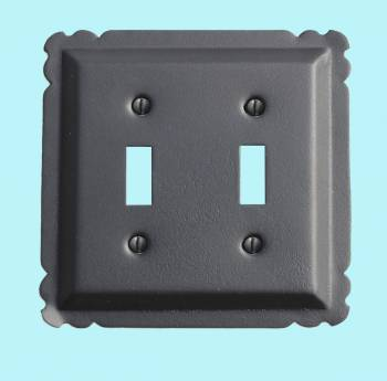 Switchplate Black Steel Double Toggle Switchplate Covers Black Switchplates And Outlet Covers Decorative Switchplates