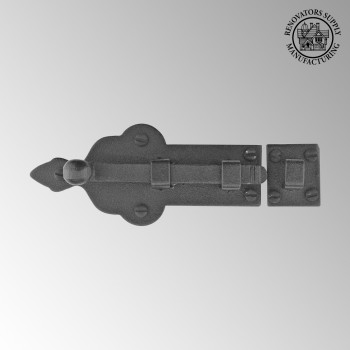 <PRE>Black Door Bolt Wrought Iron Slide Lock Security 4inch Wide </PRE>zoom2