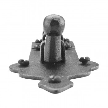 <PRE>Black Door Bolt Wrought Iron Slide Lock Security 4inch Wide </PRE>zoom9