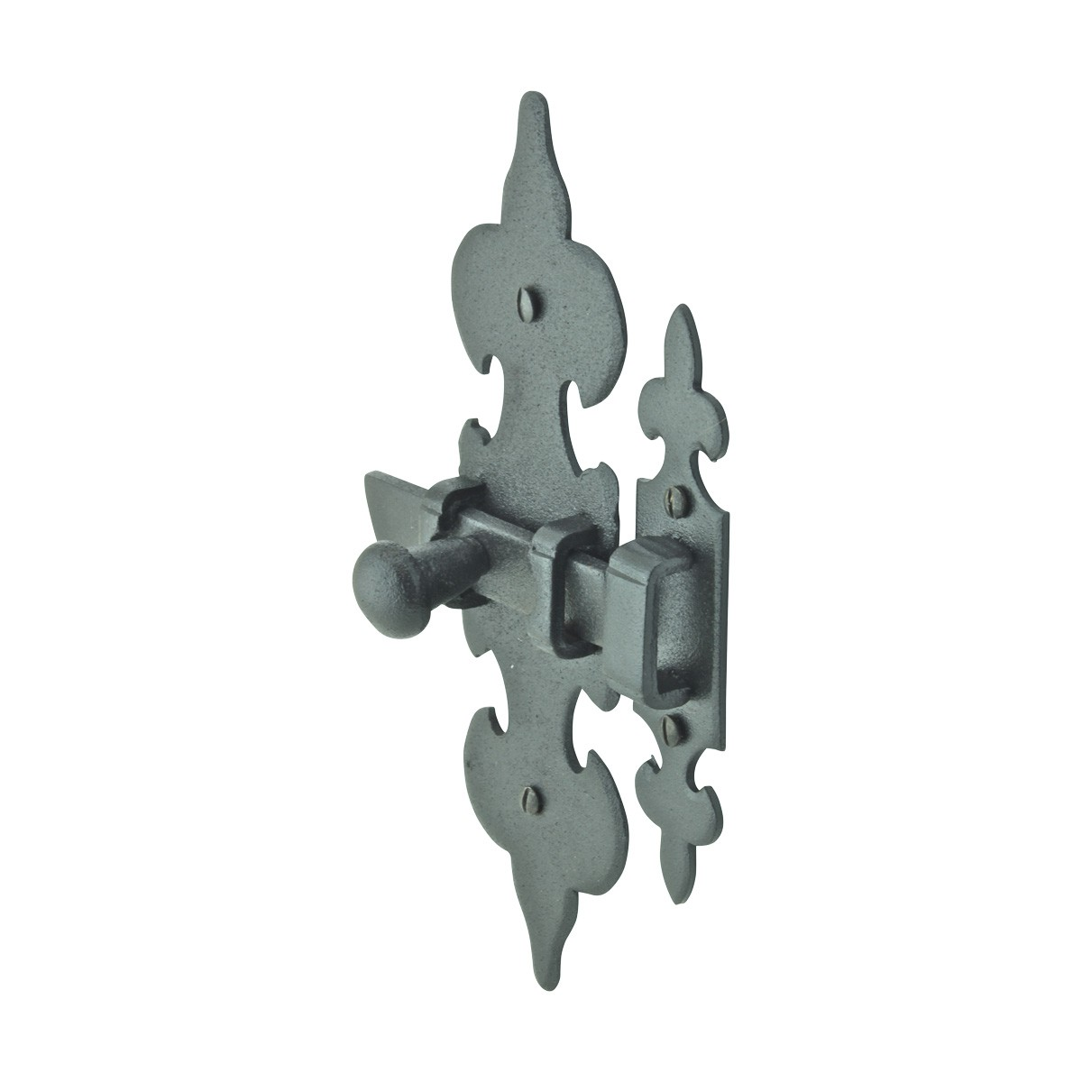 Cabinet Latch Wrought Iron Black Fleur de Lis 6 Cabinet Latch Cabinet Hardware Black Cabinet Latche
