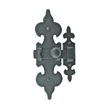 <PRE>Cabinet Latch Wrought Iron Black Fleur de Lis 6inch </PRE>zoom4