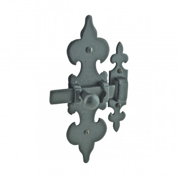 <PRE>Cabinet Latch Wrought Iron Black Fleur de Lis 6inch </PRE>zoom5
