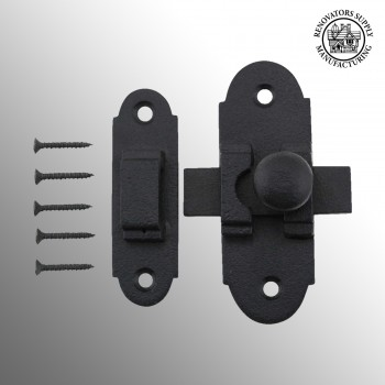 Slide Style Cabinet Latch Black Iron 3 14 Inch x 1 14 Inch Cabinet Latch Black Cabinet Latch Antique Wrought Iron Cabinet Latch