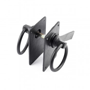 <PRE>Ring Gate Latch Lock Set Black Iron Antique Latch </PRE>zoom8