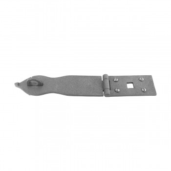 "<PRE>Hasp Black Wrought Iron 1 3/4inch H x 8 1/2"" W </PRE>zoom5"