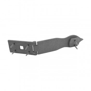 "<PRE>Hasp Black Wrought Iron 1 3/4inch H x 8 1/2"" W </PRE>zoom10"
