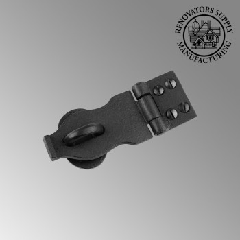 Decorative Hasp Black Iron 1 38 Inch x 4 Inch Wrought Iron Hasp Hasp Latch Black Iron Hasp