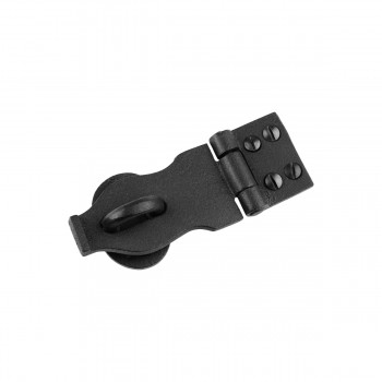 Black Decorative Hasp Wrought Iron 1 38 H x 4 W