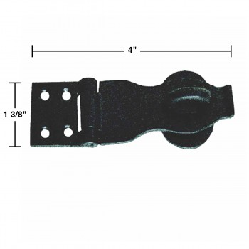 spec-<PRE>Decorative Hasp Black Iron 1 3/8 Inch x 4 Inch</PRE>