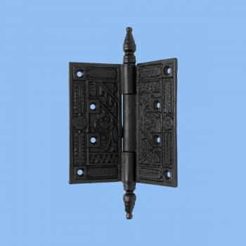 <PRE>Wrought Iron Butt Hinge Black Victorian Steeple Tip </PRE>zoom2