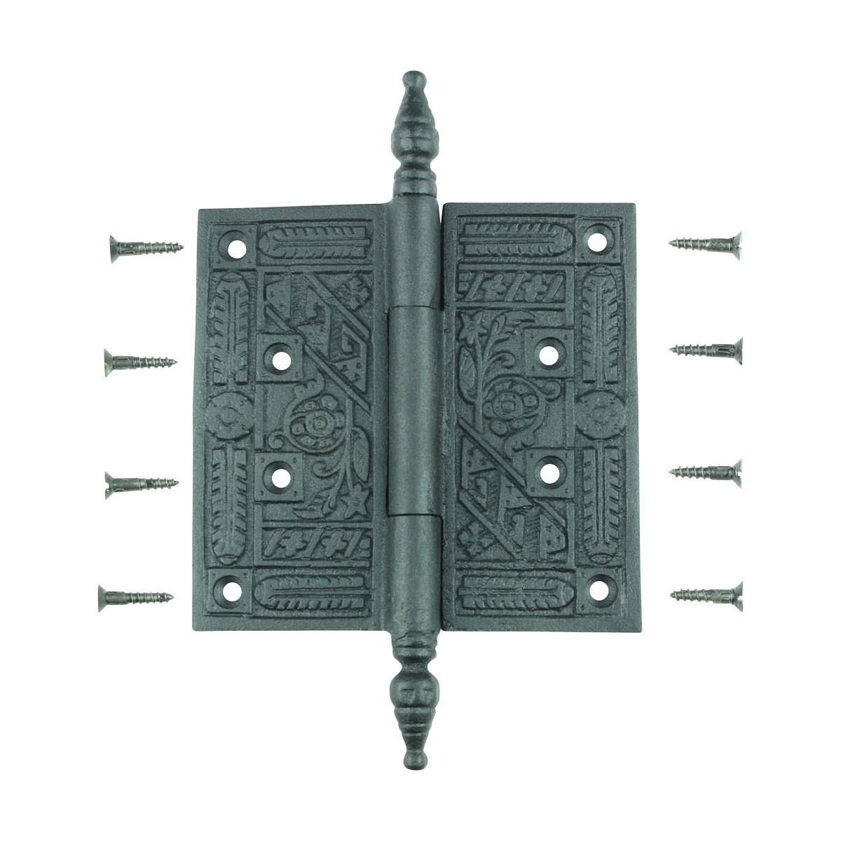 Wrought Iron Butt Hinge Black Victorian Steeple Tip Steeple Tip Hinge Butt Hinge Wrought Iron Victorian Hinges