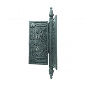 <PRE>Wrought Iron Butt Hinge Black Victorian Steeple Tip </PRE>zoom8