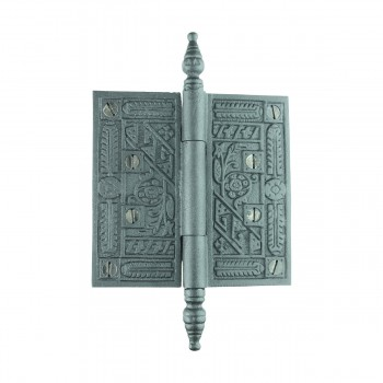 Wrought Iron Butt Hinge Black Victorian Steeple Tip 15781grid