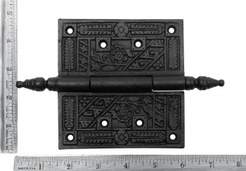 spec-<PRE>Wrought Iron Butt Hinge Black Victorian Steeple Tip </PRE>