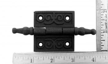 spec-<PRE>Victorian Door Butt Hinge Steeple Tip Wrought Iron 2&quot; W </PRE>