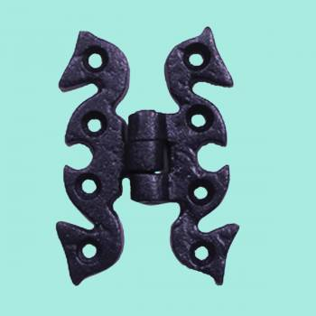 Door Hinges - Wrought Iron Hinge 2 3/4 in. H by the Renovator's Supply