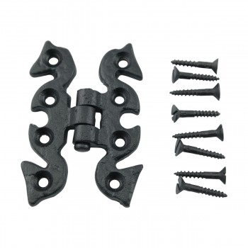 <PRE>Door or Cabinet Surface Hinge Black Wrought Iron 2 3/4 H </PRE>