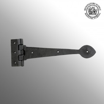 Door Strap Hinge Heart Tip Rough Forged Iron 10 Wrought Iron Door Hinges Black Door Hinges Vintage Strap Hinges