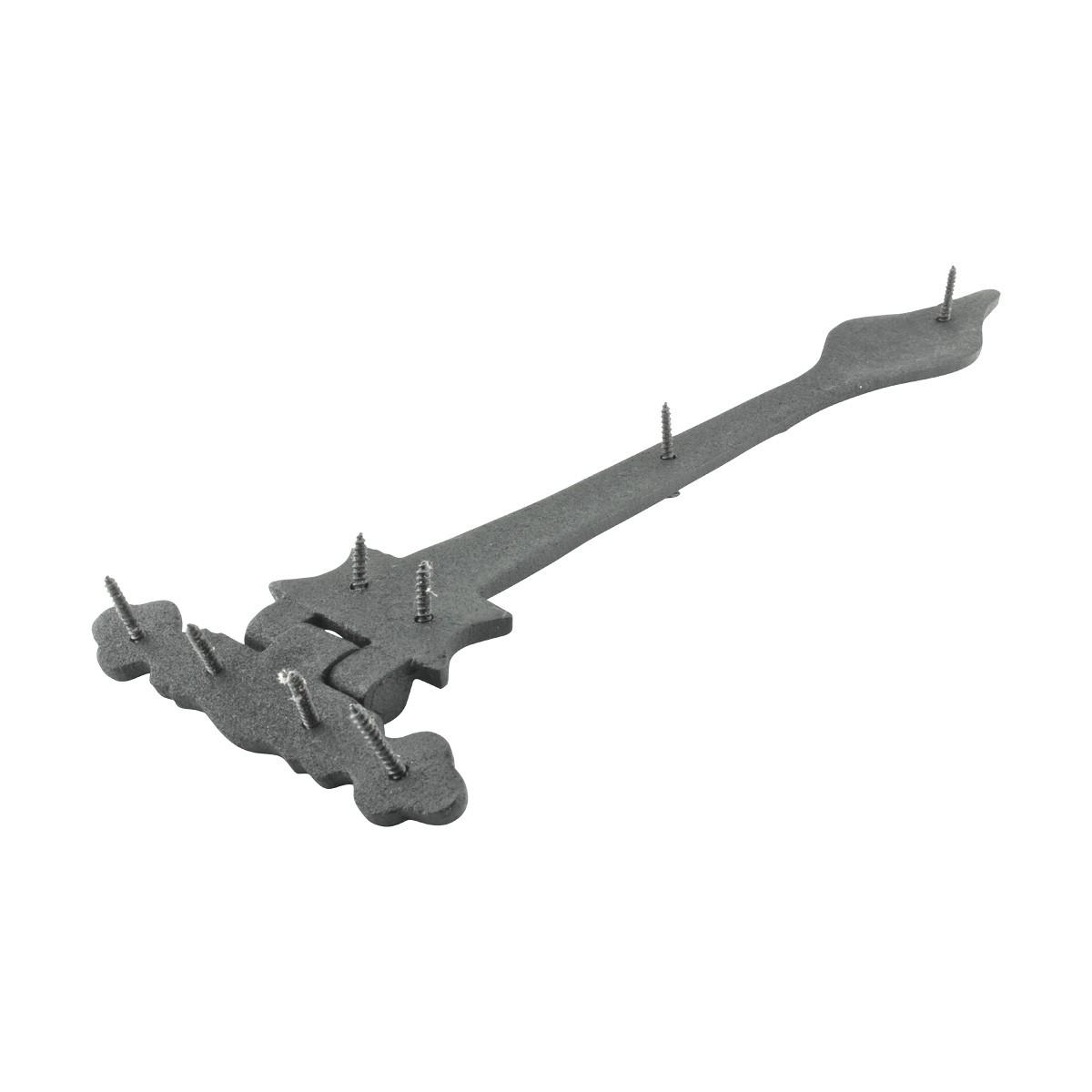 Black Wrought Iron Strap Hinge Doors or Gates Spear Tip 1134in Wide Rustproof Wrought Iron Door Hinges Black Door Hinges Vintage Strap Hinges