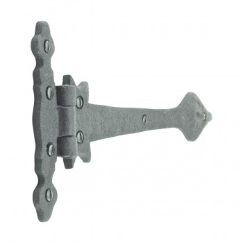 <PRE>Black Wrought Iron Strap Hinge Doors or Gates Spear Tip 11-3/4in Wide Rustproof</PRE>zoom5