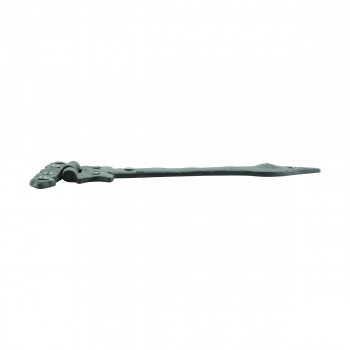 <PRE>Black Wrought Iron Door Strap Hinge Spear Tip 9&quot; </PRE>