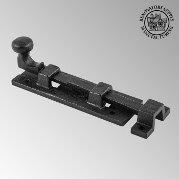 <PRE>Black Wrought Iron  Cabinet or Door Slide Bolt 4inch W </PRE>zoom2