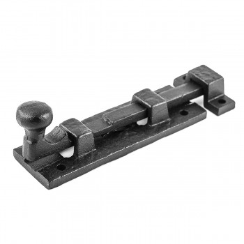 <PRE>Black Wrought Iron  Cabinet or Door Slide Bolt 4inch W </PRE>zoom5